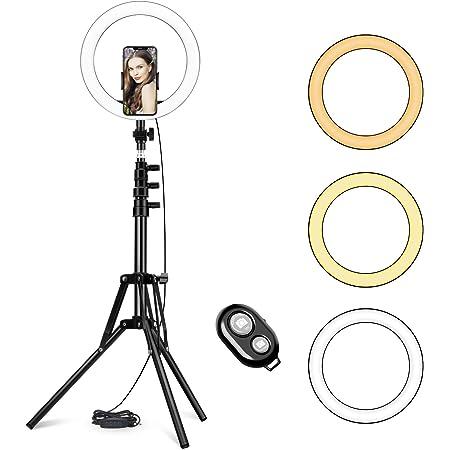 10 Zoll Led Ringlicht Mit Verstellbarem Stativ Ständer Kamera