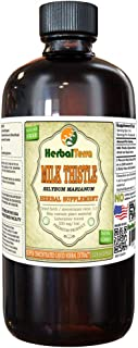 Milk Thistle (Silybum Marianum) Tincture, Organic Dried Leaves Liquid Extract (Brand Name: HerbalTerra, Proudly Made in USA) 32 fl.oz (0.95 l)