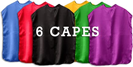 Super Hero Capes children Set Of 6 - Made In USA
