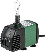 Decdeal 1500L/H 25W Bomba de Agua Sumergible con 2 Boquillas AC220-240V para Acuario Fuentes Jardín de Agua Sistema Hidrop...