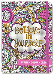 Believe in Yourself Adult Coloring Journal
