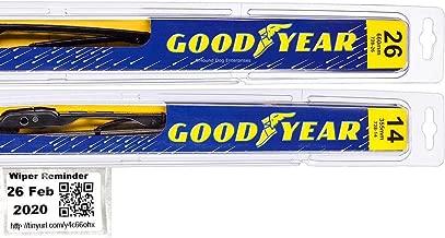 Premium - Windshield Wiper Blade Bundle - 3 Items: Driver & Passenger Blades & Reminder Sticker fits 2013-2018 Hyundai Santa Fe
