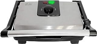 Plancha Grill eléctrico de acero inoxidable y placas