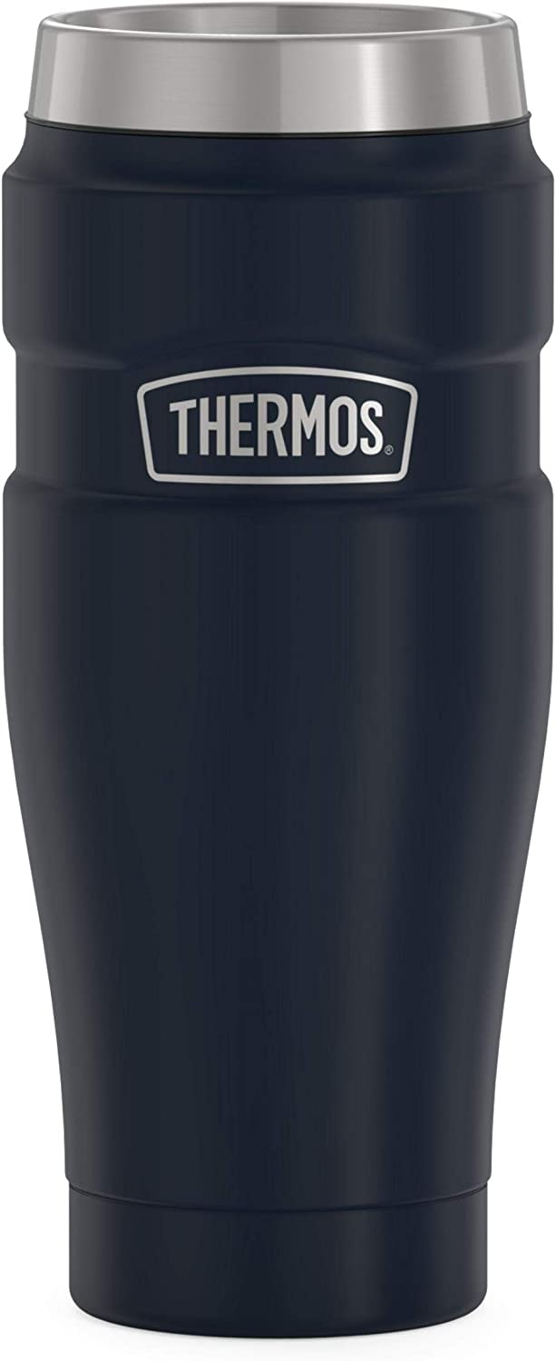 THERMOS Stainless King Vacuum-Insulated Travel Tumbler, 16 Ounce, Matte Blue