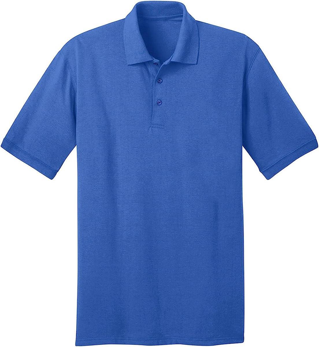 Port & Company Tall 5.5 oz Jersey Knit Polo Shirt-3XLT (Royal)
