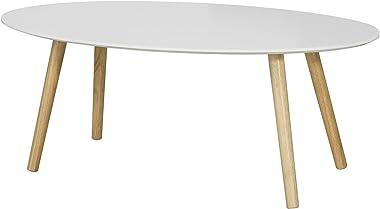 SoBuy Mesa de Centro para Salón,Mesa de Café, Blanco, L105xH40 cm,FBT61-W, ES