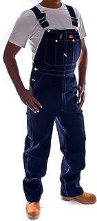 Dickies Denim Dungarees - Indigo DB100RNB Mens Work Bib Overall DickiesIndigo-40W-34L