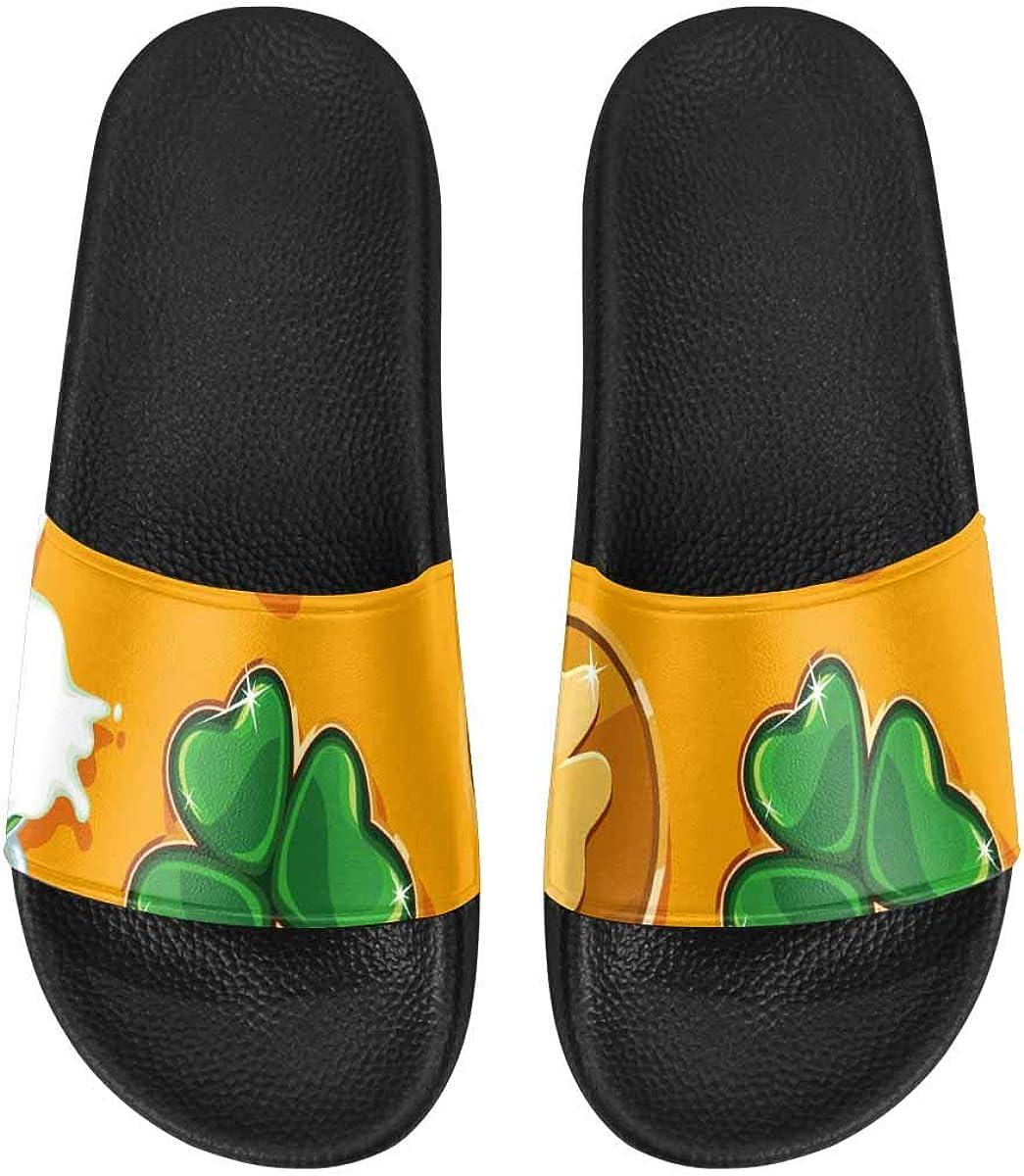 InterestPrint Women's Casual and Lightweight Slipper Sandals for Home Graduation Hat Pie Cake