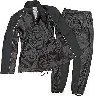 Joe Rocket RS-2 Two-Piece Women's Street Motorcycle Rainsuit - Black/Black/Medium