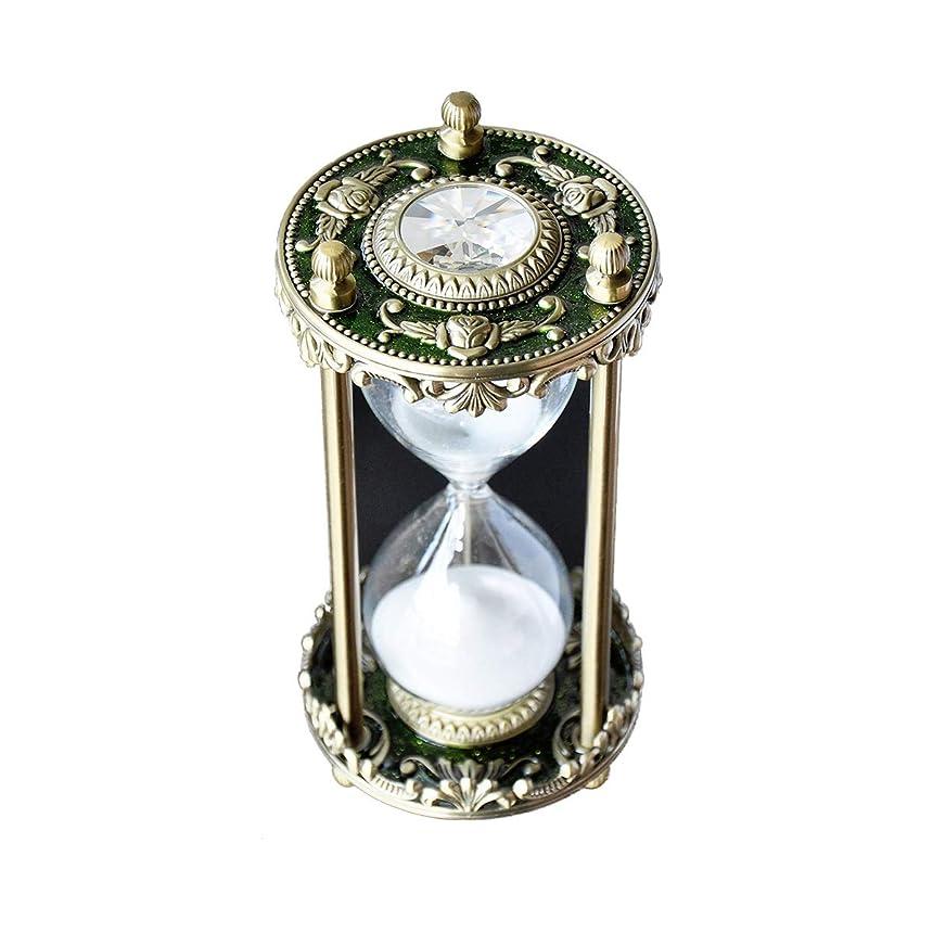 ゲインセイタンク一緒クリエイティブメタル砂時計ジュエリー砂時計、ヴィンテージ北欧スタイルのデザイン ガラスによるデスクトップの装飾、友達へのプレゼント、ホリデーギフト。