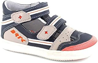 Boys Leather T-Strap Shoes Closed Toe Sandals 41885 (Toddler/Little Kid)