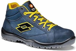Lotto Chaussures de sécurité Jump 900 Mid - S3 SRC - col. Night Olive/Orange - Art. Q8517