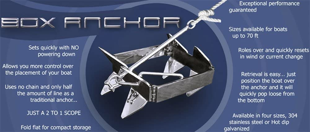 Box Anchor for Offshore Boat Anchoring Bag Colors May Vary Includes Storage Bag Slide Anchor