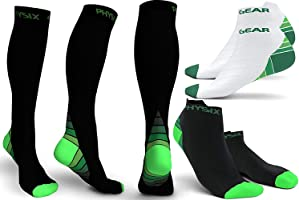 Physix Gear Compression Socks for Men & Women (20-30 mmHg) Best Graduated Athletic Fit for Running, Nurses, Shin...