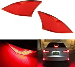 iJDMTOY Red Lens 69-SMD LED Bumper Reflector Lights for 2014-19 Lexus IS250 IS350 IS200t IS300, Function as Tail, Brake & Rear Fog Lamps