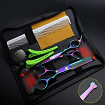 Hair Scissors Elderly Children's Home Scratch-Resistant Color Hairdressing Scissors, Hairdressing Scissors Set Scissors (Color : Colors)