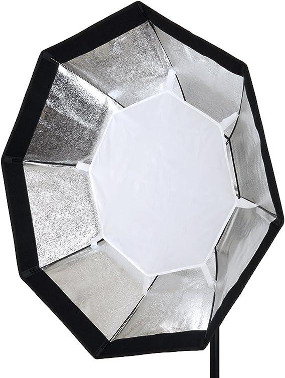 PIXAPRO 95cm Profoto Empotrado Estudio Estrobosc/ópico flash Octogonal Softbox Rejilla Octabox Compatible con Profoto luces destello