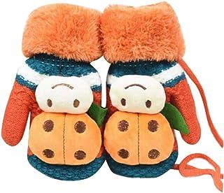 Children Winter Cute Wool Mittens, Thick Infant Warm Gloves, Ladybug Type, B02