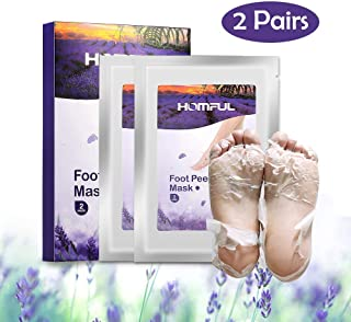 2 Pairs Exfoliant Foot Peel Mask for Soft Feet in 7 Days, Natural Lavender Exfoliating Booties for Peeling Off Calluses & Dead Skin, Baby Your feet, for Men & Women