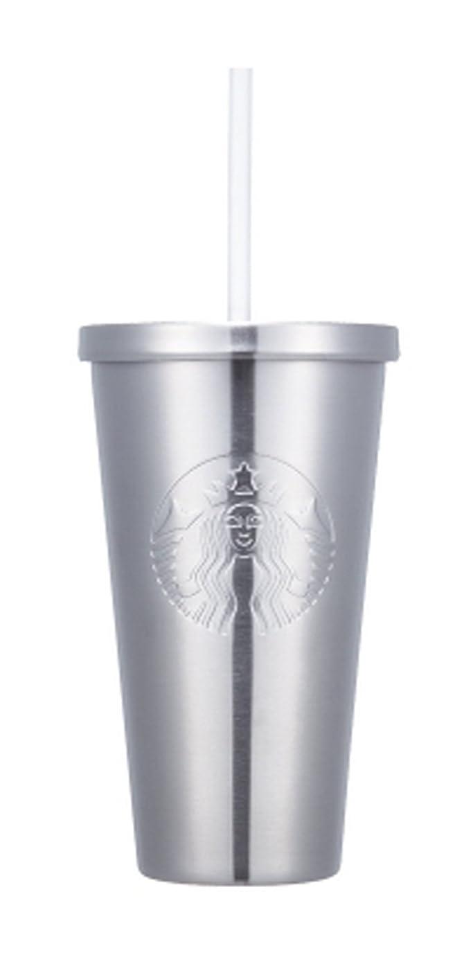 個人リブプログレッシブ海外限定 スタバ シルバーサイレン コールドカップタンブラー Starbucks SS silver siren coldcup 473ml [並行輸入品] (シルバー)