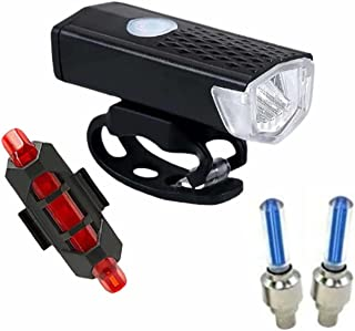 TYESHA Luz de bicicleta com carregamento USB super brilhante, luz de ciclismo à prova d'água, luz frontal de bicicleta, co...