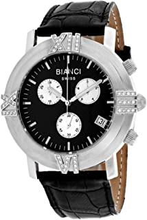 Roberto Bianci Watches Women'S Medellin Stainless Steel Swiss-Quartz Leather Calfskin Strap, Black, 23 Casual Watch (Model: Rb18490), RB18490