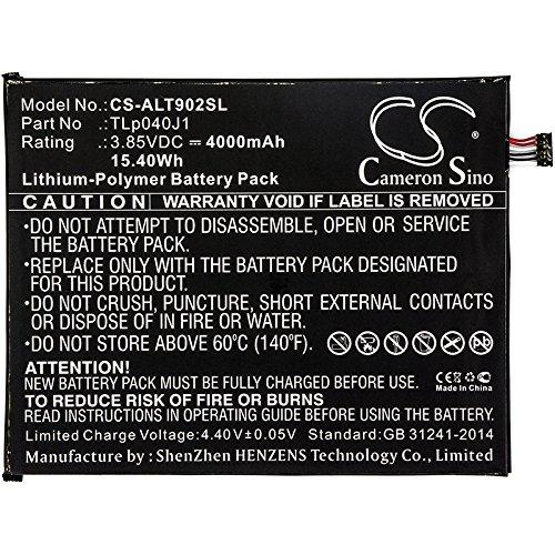 CS-ALT902SL Baterie 4000mAh compatibel met [ALCATEL] 8082, 9024W, A30 Tablet, A30 Tablet 4G LTE vervangt TLp040J1