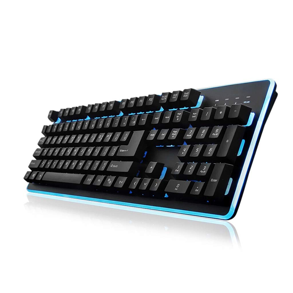LIULU Wired Game Mechanical Keyboard Suspension Black Axis Mechanical Keyboard USB Computer Game Keyboar Color : A