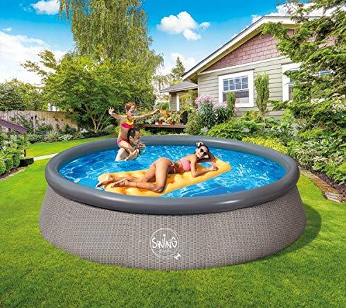 FSR Quick Up Pool 366 x 91 cm grau Swing Swimmingpool Schwimmbecken Aufstellpool ohne Pumpe