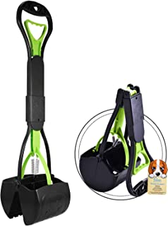 PPOGOO Non-Breakable Pet Pooper Scooper for Dogs and Cats with Long Handle High Strength Material and Durable Spring for Easy Grass and Gravel Pick Up