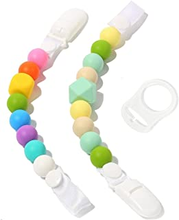 En iyi bebek emziği Clip Bundle–2Silikon emzik tutacağı–eğlence, renkli ve BPA içermez Dummy Leine