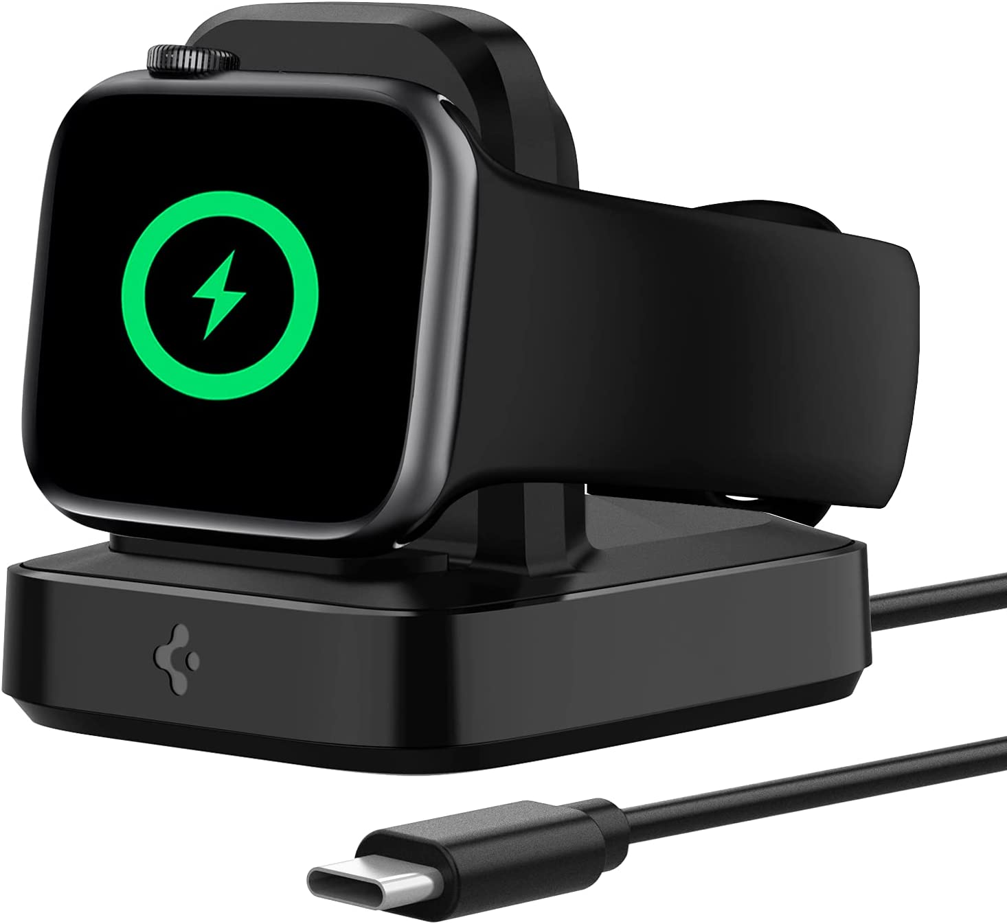 Spigen ArcField for Apple Watch Charger Stand, MFi Certified for Apple Watch Charger, Magnetic Wireless Charging for Apple Watch Series 6 SE 5 4 3 2 1 44mm 42mm 40mm 38mm Built in Charger&USB C Cable