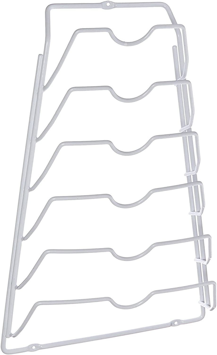 Set of Two Cabinet Lid Racks-- White