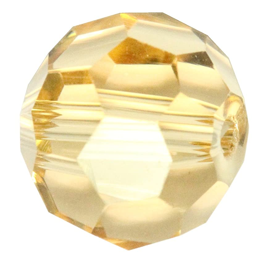 50pcs 8mm Adabele Austrian Round Crystal Beads Gold Champagne Compatible with 5000 Swarovski Crystals Preciosa SS2R-828