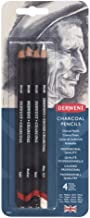 DERWENT(R) R39000 CHARCOAL PENCILS, PK4