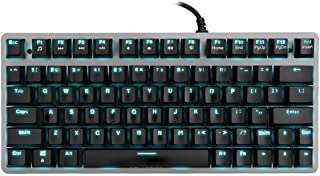 Velocifire Tenkeyless Mechanical Keyboard Mini, 78-Key Compact Ergonomic, Outemu Brown Switches Backlit and Double-Shot ABS Keycaps for Copywriter, Typist and Programmer
