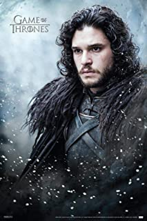Pyramid America Game of Thrones Jon Snow TV Show Stretched Canvas Wall Art 16x24 inch