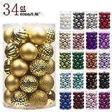 KI Store 34ct Christmas Ball Ornaments Shatterproof Christmas Decorations Tree Balls for...