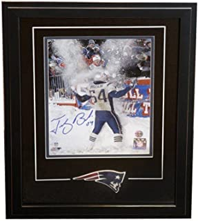 tedy bruschi signed photo