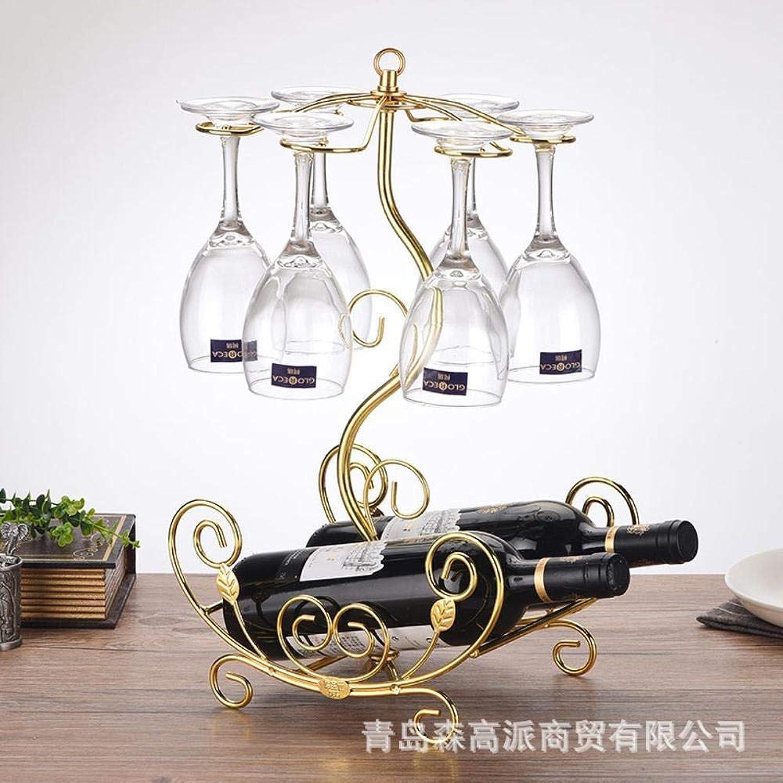 Red Wine Shelf Wine Rack Wine Bottle Glass Frame Flower Boat Goblet Stand Ornaments Wire 255  191  440mm Wine Glass Rack (color   B)