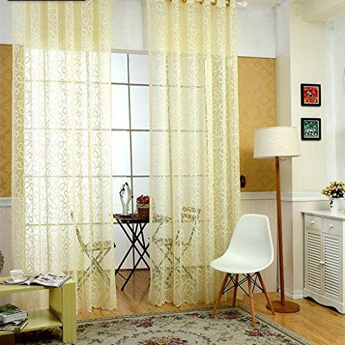 Met Love Lumière Jaune Polyester Warp Rideaux Ménagers Fenêtre Tissu Tissu Salon Chambre Studio Dédié Balcon Baie Fenêtre 2 Panneaux (taille : L:1.5*H:2.7m)