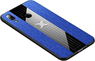 HAWEEL For Huawei nova 3i Stitching Cloth Textue Shockproof TPU Protective Case(Black) Protective soft Case (Color : Blue)