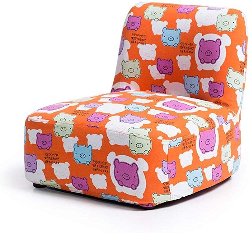Carl Artbay Wooden Footstool Children S Sofa Cute Low Baby Small Sofa Lazy Back Seat Kindergarten Cartoon Sofa Chair Parent Child Sofa Home Color Orange