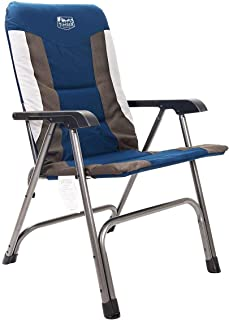 Timber Ridge Camping Folding Chair High Back Portable with Carry Bag Arm Chair Easy Set up Padded for Outdoor, Lawn, Garden, Lightweight Aluminum Frame, Support 300lbs