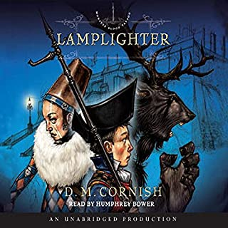 Lamplighter     Monster Blood Tattoo, Book 2              By:                                                                                                                                 D. M. Cornish                               Narrated by:                                                                                                                                 Humphrey Bower                      Length: 16 hrs and 9 mins     194 ratings     Overall 4.6