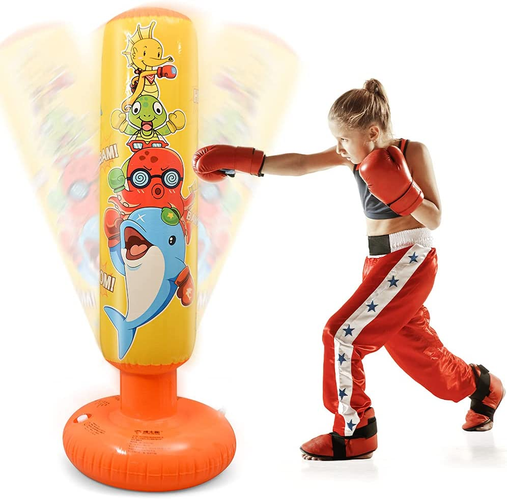 DJAM Inflatable Punching Max 49% OFF Bag for Boxing Kids Free Sale price Standing