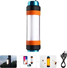 Supfire Camping Tent Light,Mosquito Rechargeable Camping Lantern with Strong Magnetic Base,Emergency Power Charger Flashlight,Waterproof Best for Caming,Hiking,Outdoor,Wild Adventure