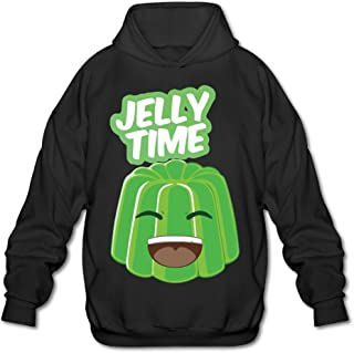 Youtube Jelly Time Hoody Pullover Sweatshirt Men Shirt Red