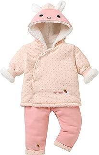 6-9 Mesi, Rosa Culater Natale Bambini Neonate Solido Soffice Cappuccio Caldo Inverno Spessore Cappotto Caldo Pagliaccetto Tuta Tuta Capispalla Abbigliamento