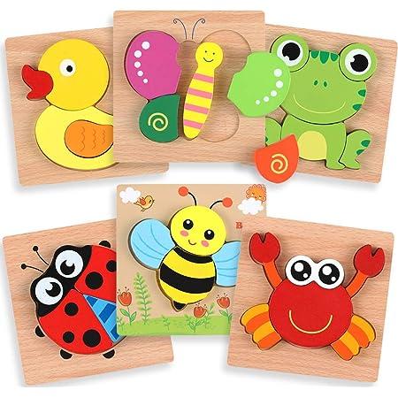 Holzpuzzles Aquarium Lernen Pädagogisches Kinderspielzeug Taktisches...